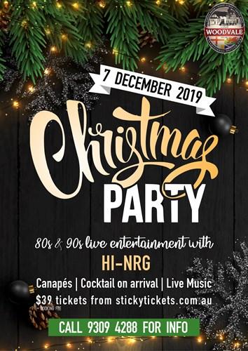 Christmas Party 2019 Logo.Hi Nrg 80s 90s Christmas Party 2019