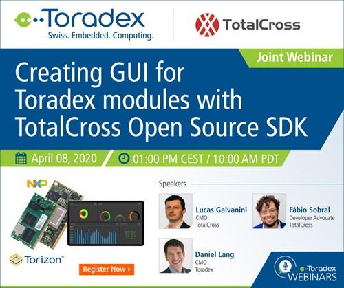 Webinar: Creating GUI for Toradex modules with TotalCross Open Source SDK
